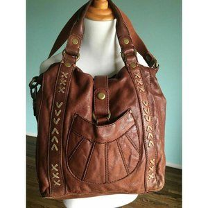 Lucky Brand 1968 Italian Leather Tote Messenger